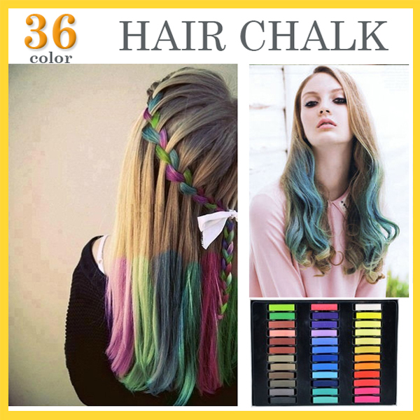 36 Colors Brief Paragraph Hair Chalk Fashion Color Hair Chalk Dye Pastels Temporary Pastel Hair Extension