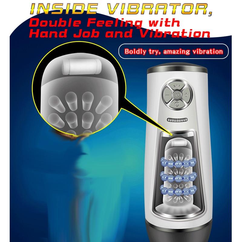 Automatic Rotation & Telescopic Male Masturbator Multi-frequency Sucker Dildo Vibrator Penis Massager Trainer For Sex Man Toys