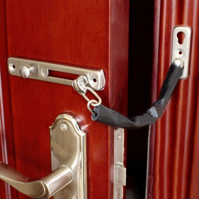Stainless Steel Chain Security Lock Doors Limit Locks Anti Theft Door Safety Latch High Quality Hotel Home Hardware