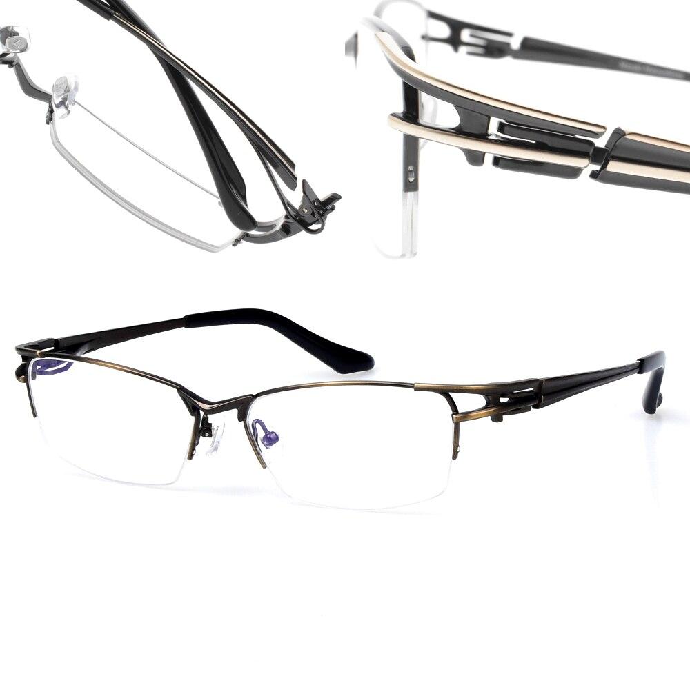 Japan BRAND DESIGN Men s Glasses Semi Rim Titanium Eyeglasses Optical Prescription Glasses Frame Men Women