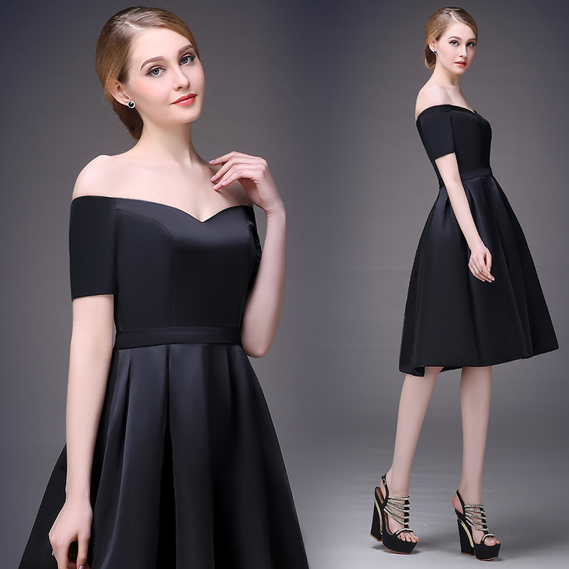 dcce609d632f Cocktail Dresses 2015 newest design elegant party dress women sweetheart  neck short sleeve cocktail dress red sapphire black 759