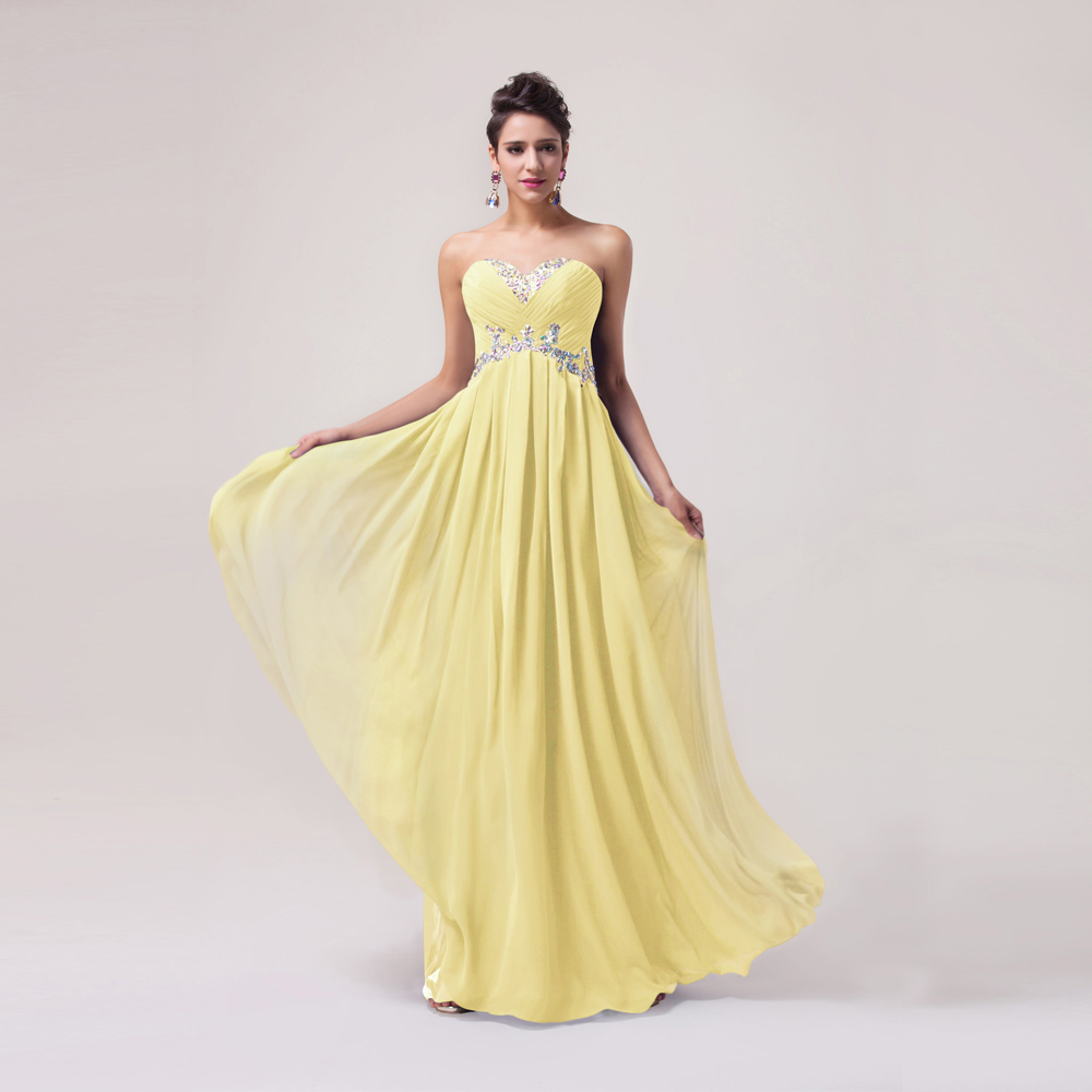 Grace karin bridesmaid dresses red yellow blue strapless beaded long grace karin bridesmaid dresses red yellow blue strapless beaded long chiffon bridesmaid dress wedding party prom gowns clearance in bridesmaid dresses from ombrellifo Image collections
