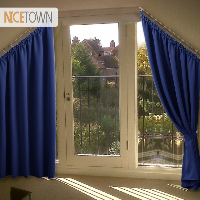Nicetown Thermal Insulated Slanted Window D For Villa Draperies Roof Attic Loft Room Darkening Curtains