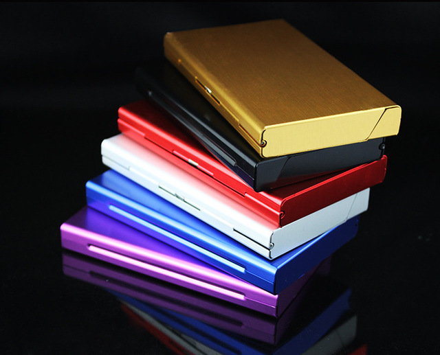 Aluminum Alloy Thin Cigarette Case 20pcs Tobacco Holder Pocket Box for Women Cigarettes Storage Container Smoking Accessories