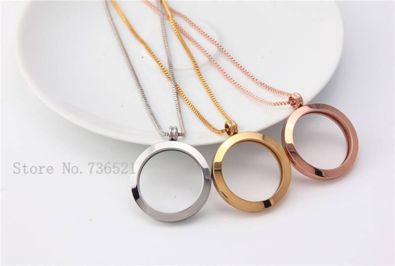 Vintage style stainless steel plain coin frame plus chain vintage style stainless steel plain coin frame plus chain combination your own interchangeable coin holder necklace set in pendant necklaces from jewelry aloadofball Choice Image