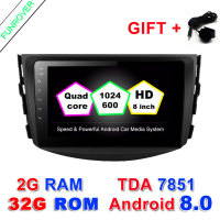 Funrover Android 8 0 2G 32GROM Car Dvd Player For Toyota RAV4 Rav 4 2007 2008