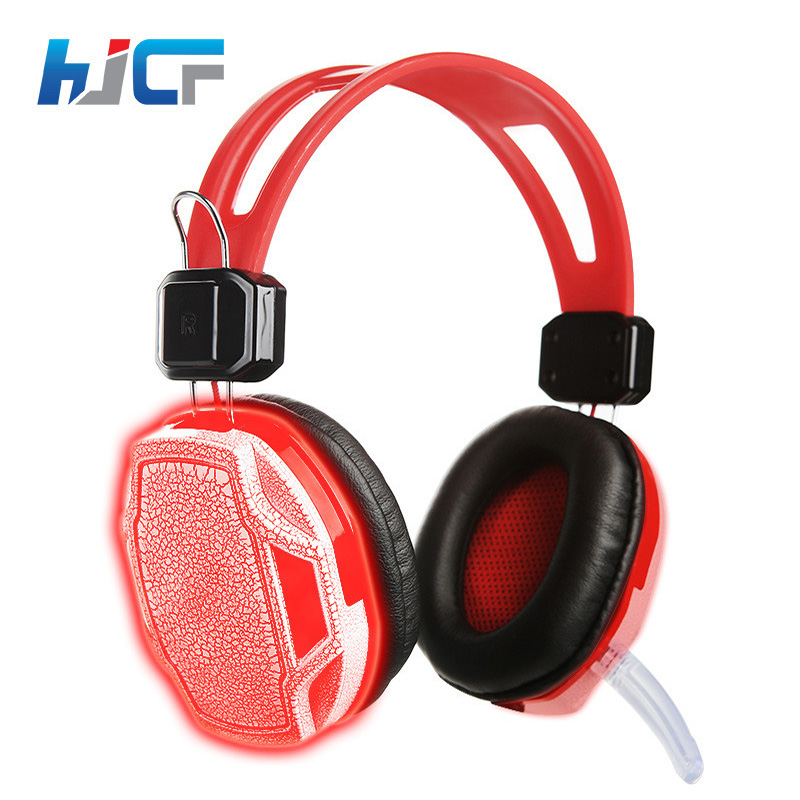 HJCF Gaming Headset Gamer 3.5mm Game Gaming Headphone Headset Earphone With Mic LED Light For Laptop Tablet Computer SY833MV each g8200 gaming headphone 7 1 surround usb vibration game headset with mic led light headband earphone for pc gamer laptop