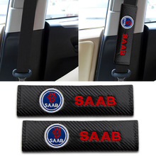 2pcs Car-Styling Auto Seat Belt Cover Padding Car Accessories Case For Saab 03-10 9-3 9-5 93 95 9000 900 Emblems Car Styling ceyes car styling case for mazda for toyota alphard skoda bmw m nissan for seat kia auto seat belt cover accessories car styling