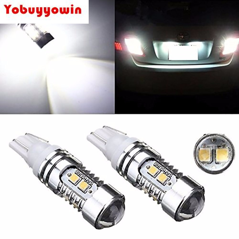 Projecteur Led Extérieur 50w High Power Eclairage Blanc 24vdc இ2 Pcs T10 10 Smd 2835 Led Chip Blanc Voiture Auto Wedge Side
