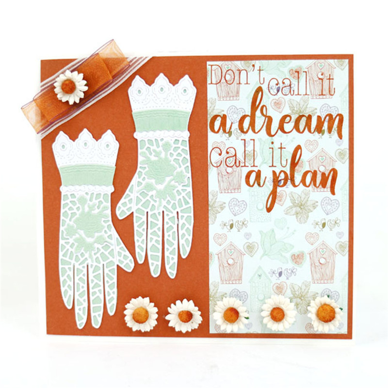 Naifumodo Lace Gloves Metal Cutting Dies New Arrival 2019 Scrapbooking Card Making Album Embossing Crafts Die Cut for