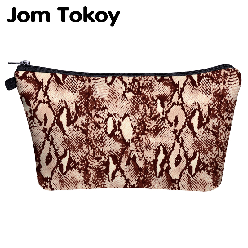 Jom Tokoy Makeup Brush Bag Printing Serpentine Multipurpose Cosmetic Bag Organizer Bag Women Beauty Bag