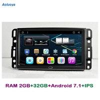 Aoluoya ram 2 GB + 32 GB Android 7,1 Автомобильная dvd навигационная система для GMC Yukon TAHOE Acadia 2007 2012 Chevrolet Tahoe Suburban 2007 2012
