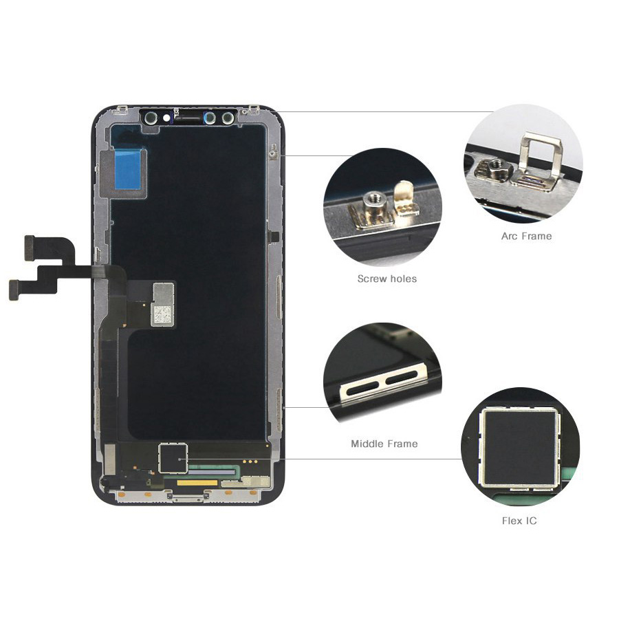Original LCD Screen Assembly Touch Screen Digitizer for iPhone X Free Shipping By DHL