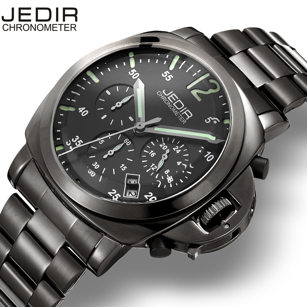 JEDIR Men Casual Watch Genuine Leather Luxury Men Watches Quartz Wristwatch CHRONOGRAPH & 24 hours Function Sport Watch relogio купить