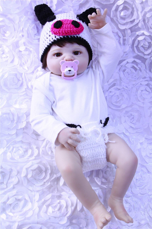 Hot nouvelle mode 55 cm bébé reborn bébé poupées réaliste poupée reborn bébés jouets plein silicone bébé jouets réel toucher belle nouveau-né