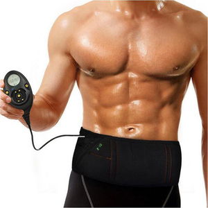Image 2 - Male 150 Intensity Levels EMS Rechargeable Muscle Stimulator Abdominal Muscle Toner Slimming Flex Belt With Retail Box