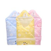 Envelope for Newborns Swaddle 100*100cm Infant Swaddling Blanket Swaddle Wrap Winter Cotton Printed Baby Sleeping Bag Bedding стоимость