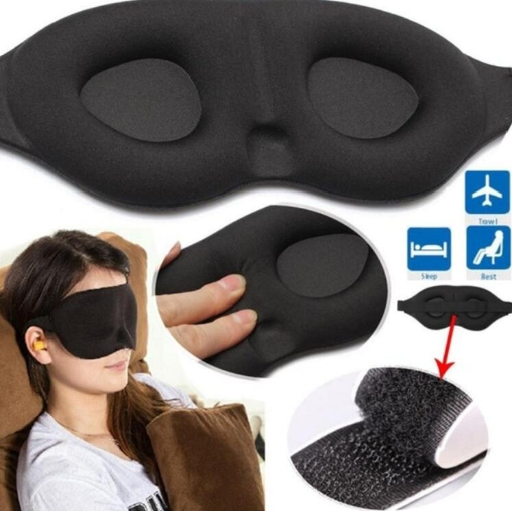3D Sleeping eye mask Travel Rest Aid Eye Mask Cover Patch Paded Soft Sleeping Mask Blindfold Eye Relax Massager Beauty Tools(China)