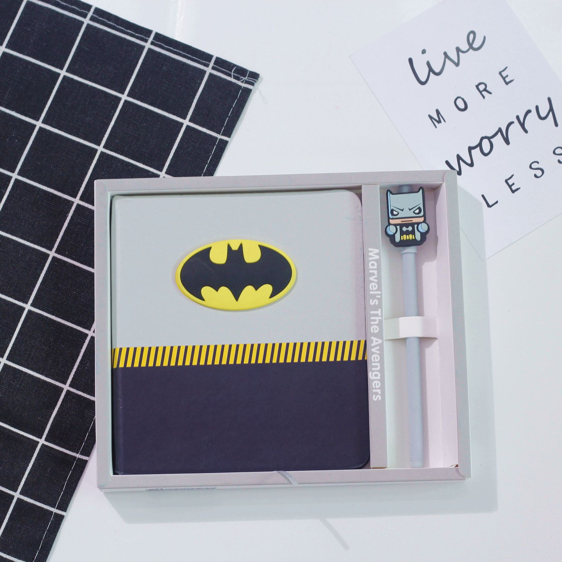 Image 4 - Cartoon Super Hero Series Notebook + Pen, Creative Boys School Gifts Planner Diary Set with Pens-in Notebooks from Office & School Supplies