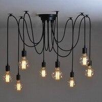 Dropshipping Edison lustre sala de estar sala de jantar Lustre luz antiga do vintage clássico 6/8/10/12/14/16 braços para a escolha