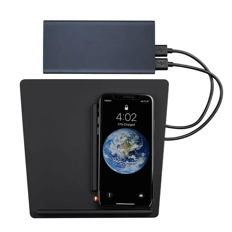 Chargeur de voiture sans fil Console centrale double téléphones chargeur Portable pour Tesla modèle 3 @ JH
