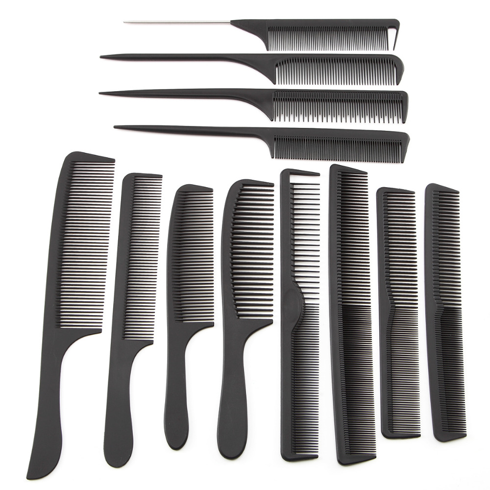 comb hair style 12 style black hairdressing comb anti static hair cutting 9246