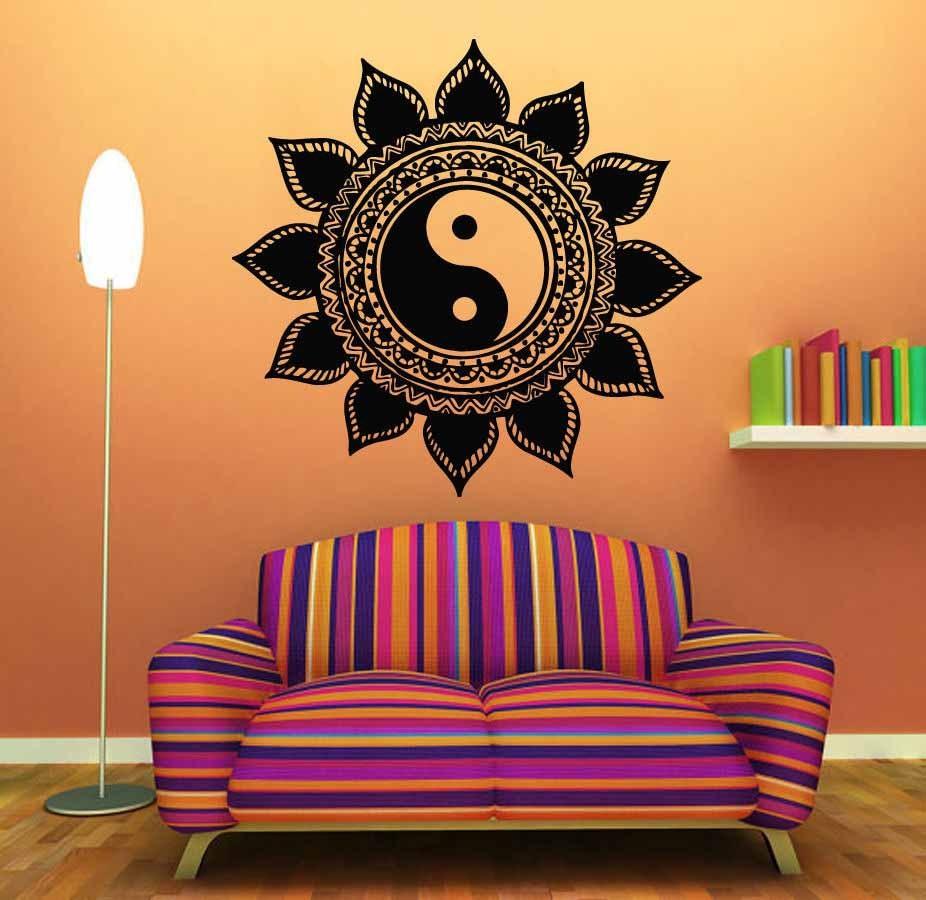 Mandala-Wall-Sticker-Home-Decal-Buddha-Yin-Yang-Floral-Yoga-Meditation-Vinyl-Decal-Wall-Art-Mural (10)