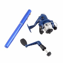 Ice Fishing Telescopic Rod Portable Pen Rods Pocket Aluminum Alloy Fishing Spinning Rod Pole With Fish Reel Fishing Tackle