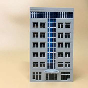 1:87 Model Train Ho /1:150 N Scale Blue Window DIY Architectural Sand Table Scene Plastic Assembly Building Kits