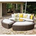 Sigma promotio moderno estilo europeo clásico de la forma redonda de mimbre sofá