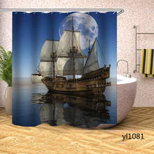 Shower Curtains Rideau-De-Bain Bathing-Cover Bathtub Household Waterproof Ship for Large