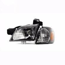 2/шт Автомобильная фара в сборе JDM черная Автомобильная фара передняя сигнальная лампа для 1997-2005 CHEVROLET VENTURE для 10316045 10316046
