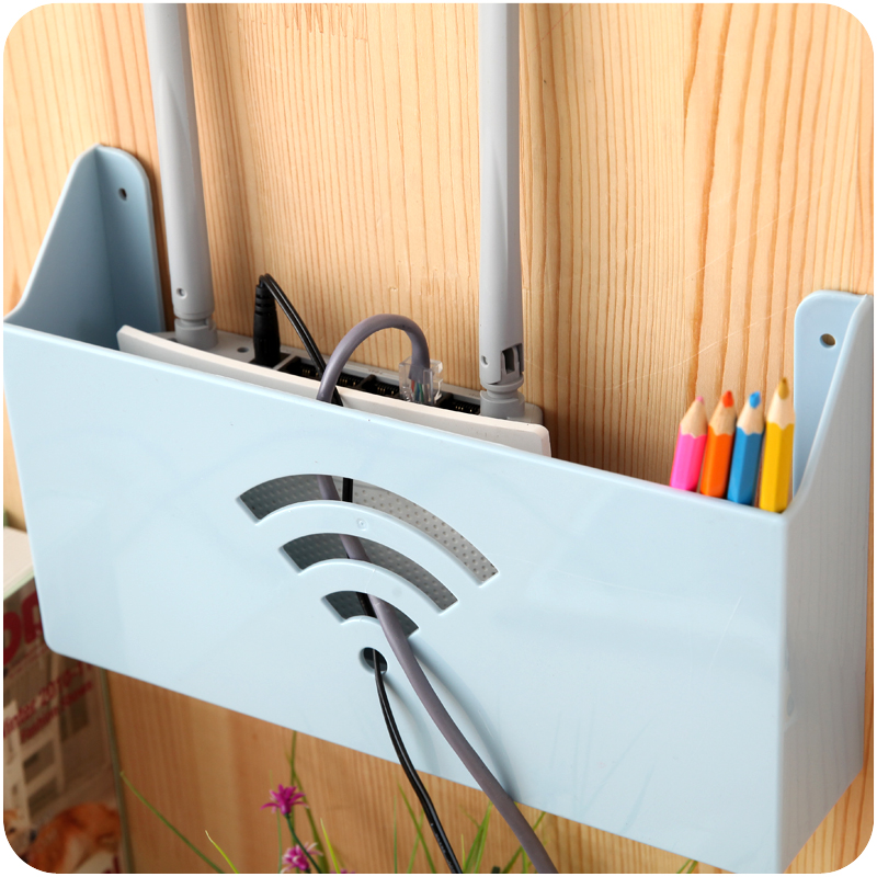 Set-top box frame wifi router shelf hanging box WIFI partner hub light cat shielding box home orgainzer image