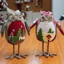 hoomall diy christmas decorations for home tree ornaments gifts table dolls owl toy christmas kids gifts - Outdoor Owl Christmas Decorations