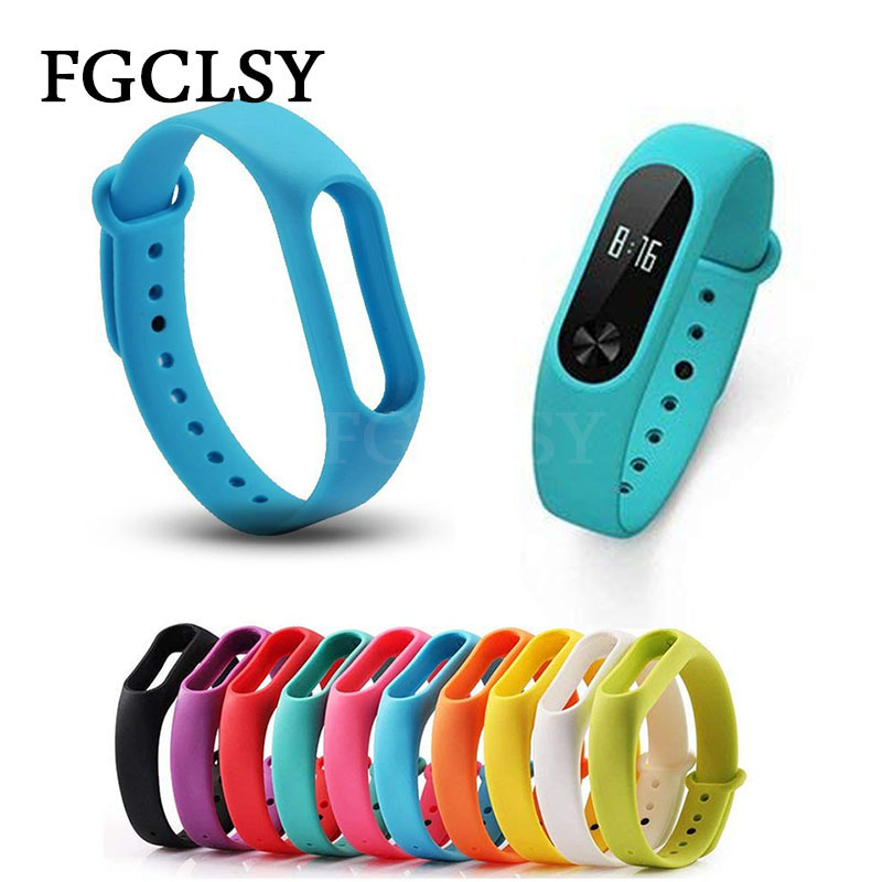 FGCLSY For Xiaomi Mi Band 2 Silicone Strap smart Band Accessories wrist Strap Mi Band 2 Fitness Colorful Bracelet Wristband цена