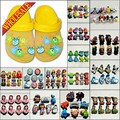 Hot 6-8PCS Minions Lalaloopsy Elsa Doc McStuffins PVC Shoe Charms,Shoe Buckles Accessories Fit Bands Bracelets Croc JIBZ,Gifts