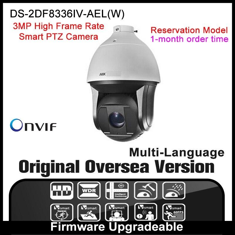 Hikvision  Ip Camera DS-2DF8336IV-AELW PTZ original Cctv security English Version dahua 1080p Optical Zoom Smart tracking RJ45 hikvision ds 2de7230iw ae english version 2mp 1080p ip camera ptz camera 4 3mm 129mm 30x zoom support ezviz ip66 outdoor poe