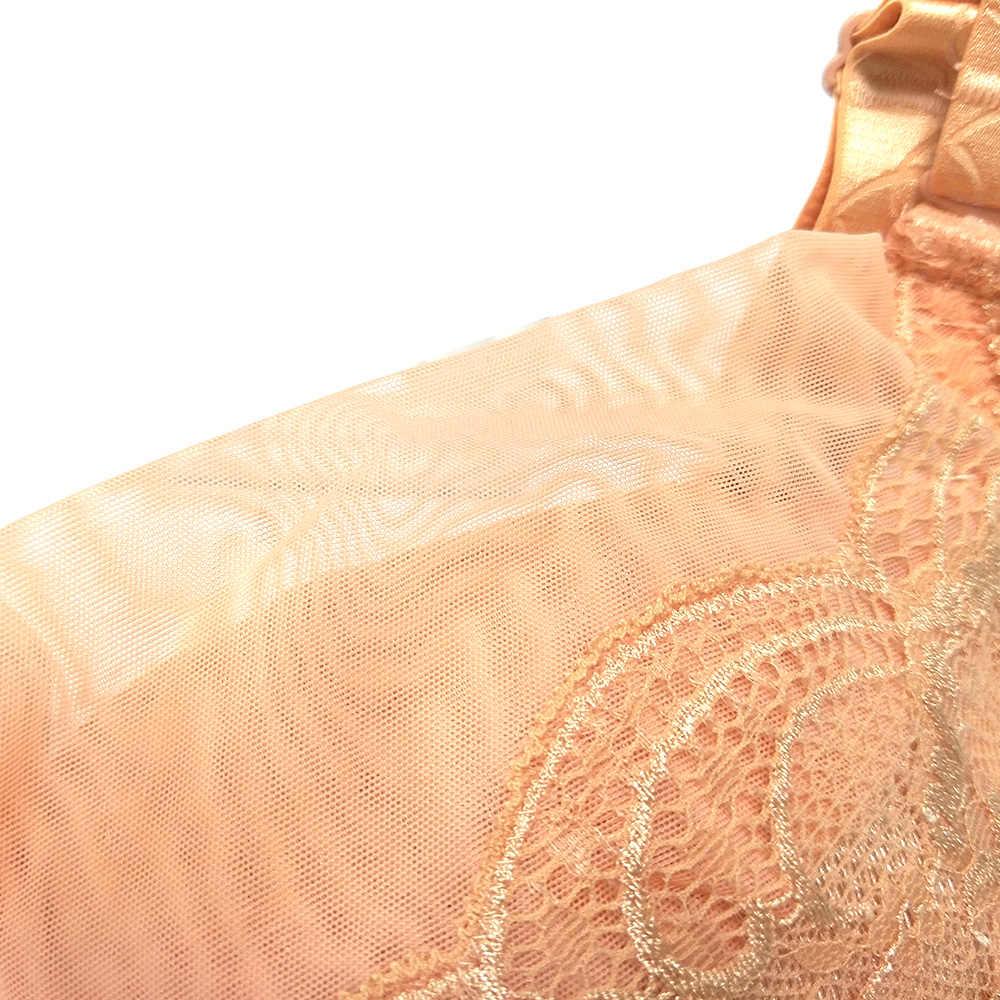YANDW женский бюстгальтер нижнее белье soutien gorge кружевной топ сексуальная сетка Sutia Bralette цветочный бренд бюстгальтер Повседневная чашка C D Размер 34 36 38 40