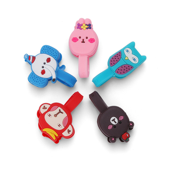 Silicone Cable Organizer Wire Winder Clip Earphone Holder Mouse Cord Protector Cable Management For iPhone Samsung USB Cable