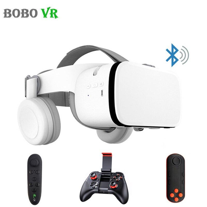 BOBOVR Z6 mise à niveau 3D lunettes VR casque Google carton Bluetooth réalité virtuelle lunettes sans fil VR casque pour Smartphones