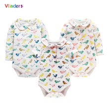Vlinder 2017 Fashion New Infant Baby Girls Colorful Magpie Printing Clothes Spring Summer Ruffles Cuff Cotton Newborn Bodysuits
