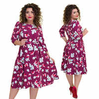 6XL Plus Size Dress Women Autumn Winter Fashion Print Dress A-Line Sashes Casual Dresses Elegant Female Party Vestidos Fiesta