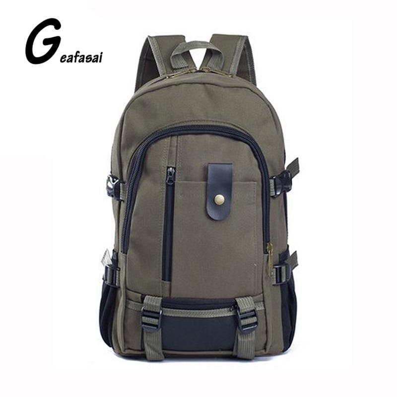 khaki army green black casual travel Canvas mochila Backpacks School Bags for unisex Teenagers Men Students Women male female