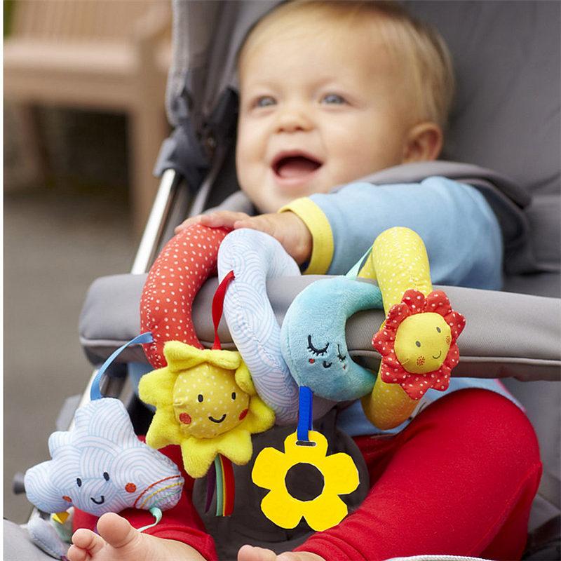Jjovce Baby Rammelaars kinderwagen mobiel op bed hangend Speelgoed voor babywiegjes educatief puzzelspeelgoed voor pasgeborenen 0-12 maanden