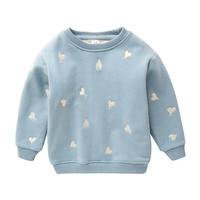IMMDOS Baby Boys Girls Sweatshirt 2018 Brand Children Cotton Long Sleeve O neck T Shirt Kids Tops Girls Winter Thicken Clothing