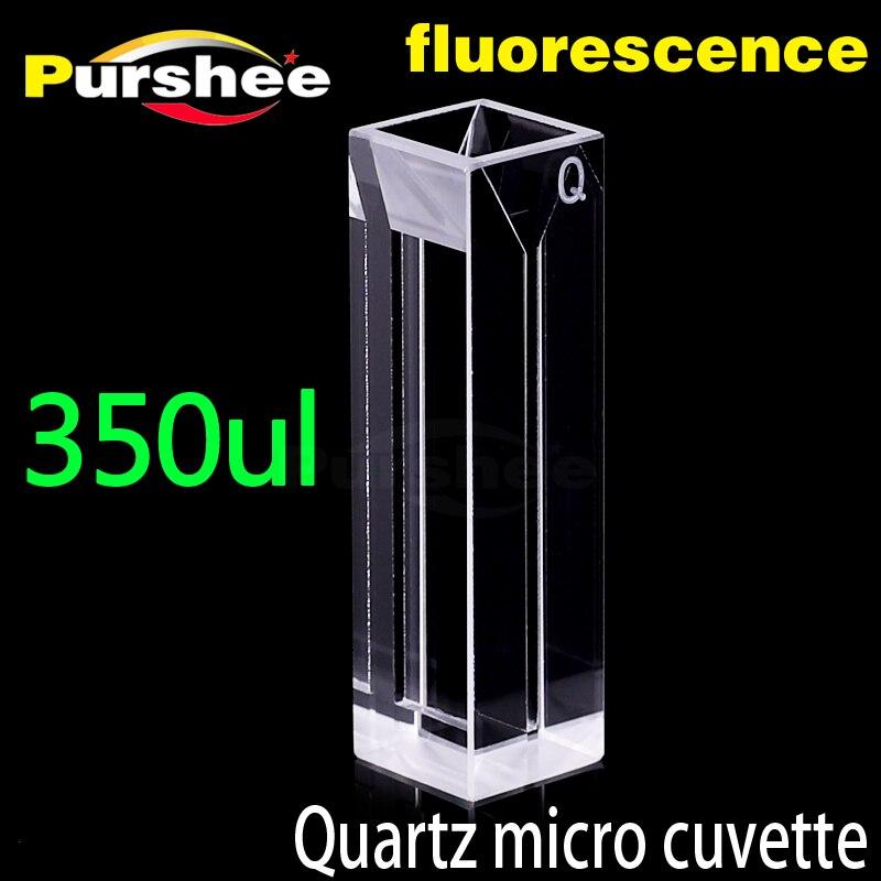Micro quartz fluorescence cuvette with lid 350ul