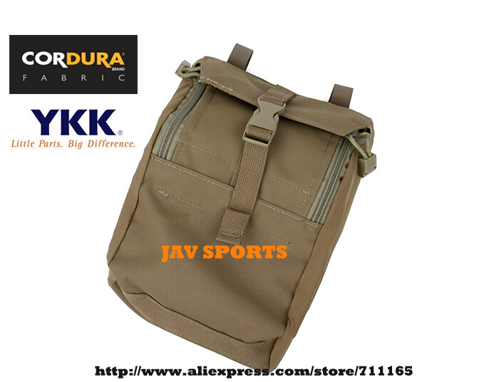TMC 9x7x3 GP Pouch Matte Coyote Brown Utility MOLLE Gear Pouches Hunting Pouches+Free shipping(SKU12050692)