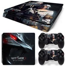 Transporte da gota livre de the witcher 3 caça selvagem para ps4 playstation 4 adesivo de pele envoltório fino capa tn-p4slim-1134
