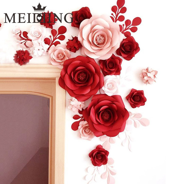 Meidding 2pcs diy paper wedding flowers wedding artificial flower meidding 2pcs diy paper wedding flowers wedding artificial flower backdrop 20cm paper flowers kid birthday mightylinksfo