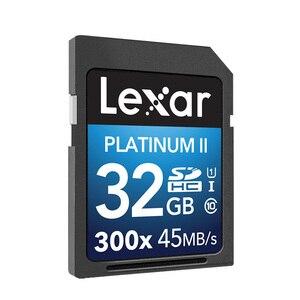 Image 3 - 100% Originele Lexar Flash Sd 300x16 GB 32GB SDHC 45 MB/s cartao de memoria Klasse 10 u1 USH I Geheugenkaart Voor Camera kaarten